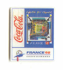 1998 WORLD CUP COCA COLA STUDENT POSTER PIN FOR VENUE CITY NEW OLD STOCK