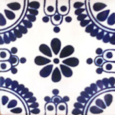 #C093) Mexican Tile sample Ceramic Handmade 4x4 inch, GET MANY AS YOU NEED !!