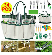 More details for 34 pcs garden tools set stainless steel hand tools planting gardening tool kit