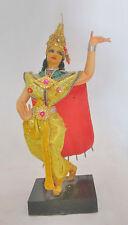 "Vintage Antique Asian Thai Siamese Dancer Doll Figure on Stand 7.5"""
