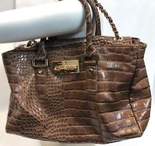 "14"" LARGE IVANKA TRUMP Alligator Leather Alexandrite Croc Tote Shoulder Purse"
