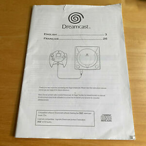 SEGA Dreamcast PAL Console Instruction Manual Only