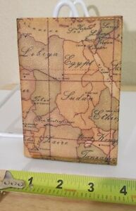 1a Classe Alviero Martini Italy World Map Printed Leather Bifold Passport Wallet