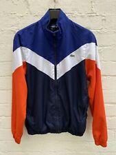 Lacoste Sport Tracksuit Jacket Blue Orange Stripe Tennis Size Small