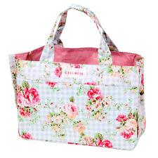 L'EST R0SE Flower Floral Small Handbag + Cosmetic Makeup Bag Set