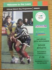 25/11/2000 Forest Green Rovers V dover Athletic (piega)