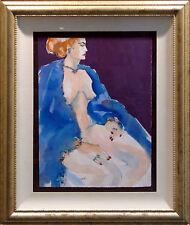 Mel Carter Original Hand Signed Woman Watercolor Painting, Framed, MAKE OFFER!