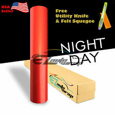 """*12""""x48"""" Reflective Red Vinyl Car Wrap Sticker Decal Graphic Sign Adhesive Film"""