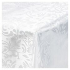 Damask White Jacquard Tablecloths Rectangle Oblong Table Cloth Tableware Dining