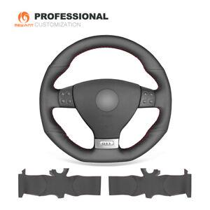 DIY Genuine Leather Steering Wheel Cover for VW Golf 5 GTI R32 Passat R GT Mk5