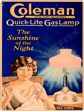 "COLEMAN GAS LAMP 9"" x 12"" Sign"