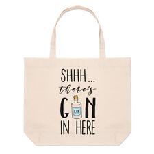 - Non giurare non c'è Gin qui Grandi Da Spiaggia Tote Bag-GIN TONIC Divertente spalla