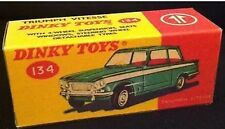 Dinky 134 Triumph Vitesse Empty Repro Box Only