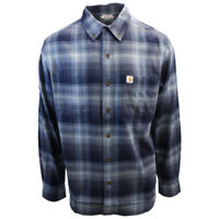 Carhartt Men's Relaxed Fit All Blue Plaid L/S Woven Shirt (365)