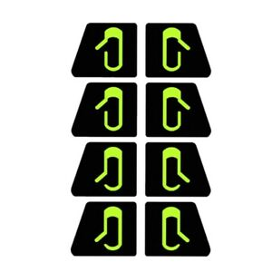 8Pcs/Set for Tesla Model 3 Car Door Open Exit Sticker Luminous Button Sticker Ki
