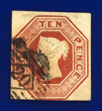 More details for 1848 sg57 10d brown 4 margins 3.w.w. h2(1) london good used cat £1500 dikv