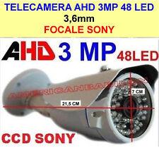 TELECAMERA VIDEOSORVEGLIANZA AHD 48 LED 3MP 3.6MM ALTA DEFINIZIONE FOCALE SONY