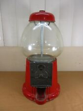 Vintage Retro Gumball Candy Prize Vending Machine Saving Bank WORKS on 10¢ 5¢ 1¢