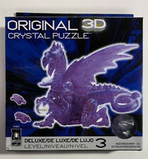 NEW SEALED: 3-D Licensed Crystal Puzzle - Purple Dragon