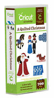 CRICUT *A QUILTED CHRISTMAS* CARTRIDGE *NEW* SANTA, NATIVITY, CARDS, CAROLERS...