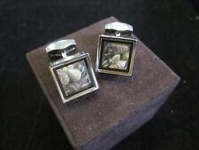 Tateossian Boutons de manchette Pandore Box coquillage 15 x 15 mm/P
