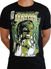 Green Lantern Face Comic Poster Justice League Licensed DC Comics Mens T-shirt