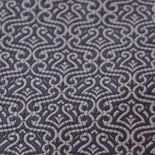 Charcoal Figured Satin Jacquard Damask - For Ties, Waistcoats, Jackets, & More