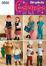 Simplicity Sewing Pattern 3650 a Toddler Costumes