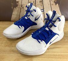 Mens Nike Hyperdunk X Low TB Basketball Shoes White Blue AT3866-107 Size 12.5