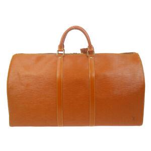 LOUIS VUITTON KEEPALL 55 TRAVEL HAND BAG BROWN EPI LEATHER VI0914 M42958 71921