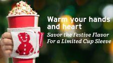 2018 Starbucks Hong Kong Holiday Red Gingerbread Man Knitted Cup Sleeve -No Card