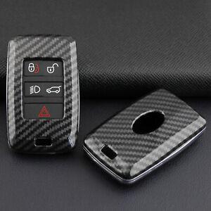 For Range Rover Sport Evoque Carbon Fiber Hard Smart Key Fob Case Shell Cover