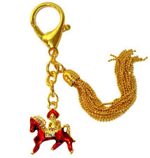 Feng Shui Bejeweled Red Horse Keychain Amulet
