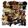 ⭐ 50 Stück Special Gold Style Glitzer Sticker  Stickerbomb - Aufkleber