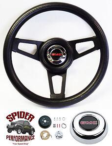 "1988-1994 Jimmy Suburban GMC pickup steering wheel 13 3/4"" BLACK SPOKE"