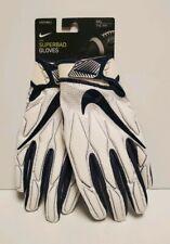Nike Superbad Penn State Football Gloves Size Xxl 2Xl White/Navy Pgf893-139 New