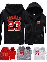 Mens Hoodie Michael Jordan 23 Hooded Jacket Men Zip Up Sweatshirt Jumper  Coat aaa3a80c375
