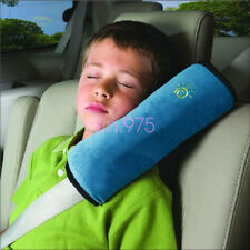 Blue Safety Car Seat Belts Cover Harness Pillow Shoulder Kids Cushion Protection