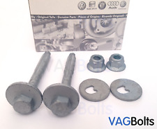 Genuine VW Audi Lower Rear Suspension Eccentric Bolt Nut Kit Toe Golf Passat A3