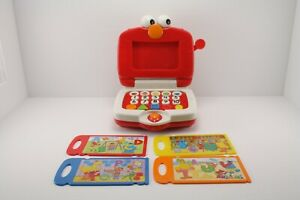 Fisher-Price Sesame Street Elmo's Learning Fun Laptop Set w/4 Cards Collectible