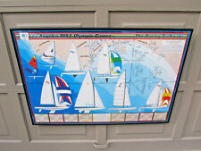 1984 Los Angeles Olympic Games Racing Sailboats Yachting Art Poster Maritime