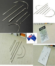 Leather Needle Tool Upholstery Sail Carpet Canvas Repair Curved Hand Sew Kit