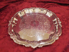 "Vintage dated 1967 WM A Rogers 12"" Square Silverplate Tray with ""ЯR"" Monogram"