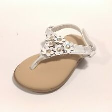 NWT WonderKids Allison Toddler Girls White Dress Shoes//Sandals 2 3