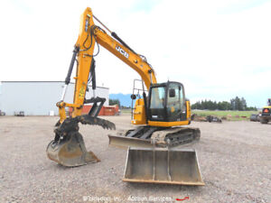 2019 JCB JZ141LC Excavator Hydraulic Thumb Aux A/C Dozer Blade Q/C bidadoo