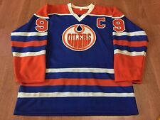 Vintage 1980s Wayne Gretzky Edmonton Oilers Maska? Superfil Jersey NHL Blue Sz M