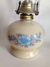 Vintage Kaadan Painted Flowers Oil Lamp