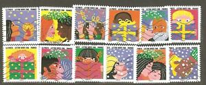 France: full set - 12 used stamps, Happy New Year, 2015, Mi#6281-92