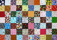 """70 I Spy Childrens 4"""" Fabric Quilt Squares All Diff Novelty Charm Pack Kit Kids"""