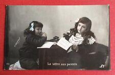 CPA. La Lettre aux Parents. H.Manuel. Petites Filles.